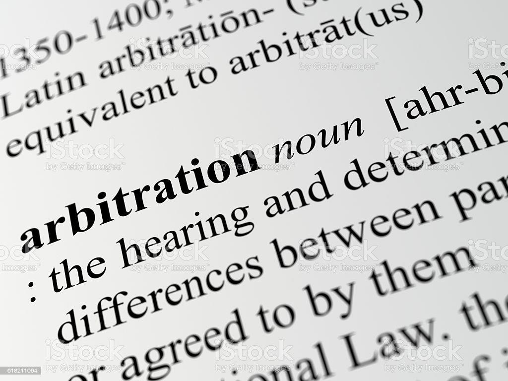 arbitration stock photo