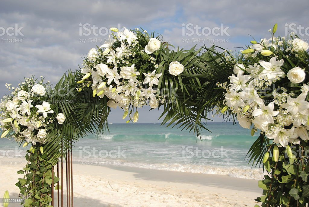 Arbor for a Beach Wedding royalty-free stock photo