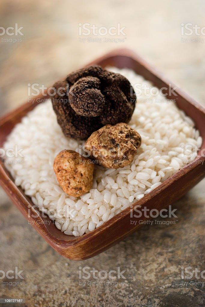 Arborio Rice & Truffles stock photo