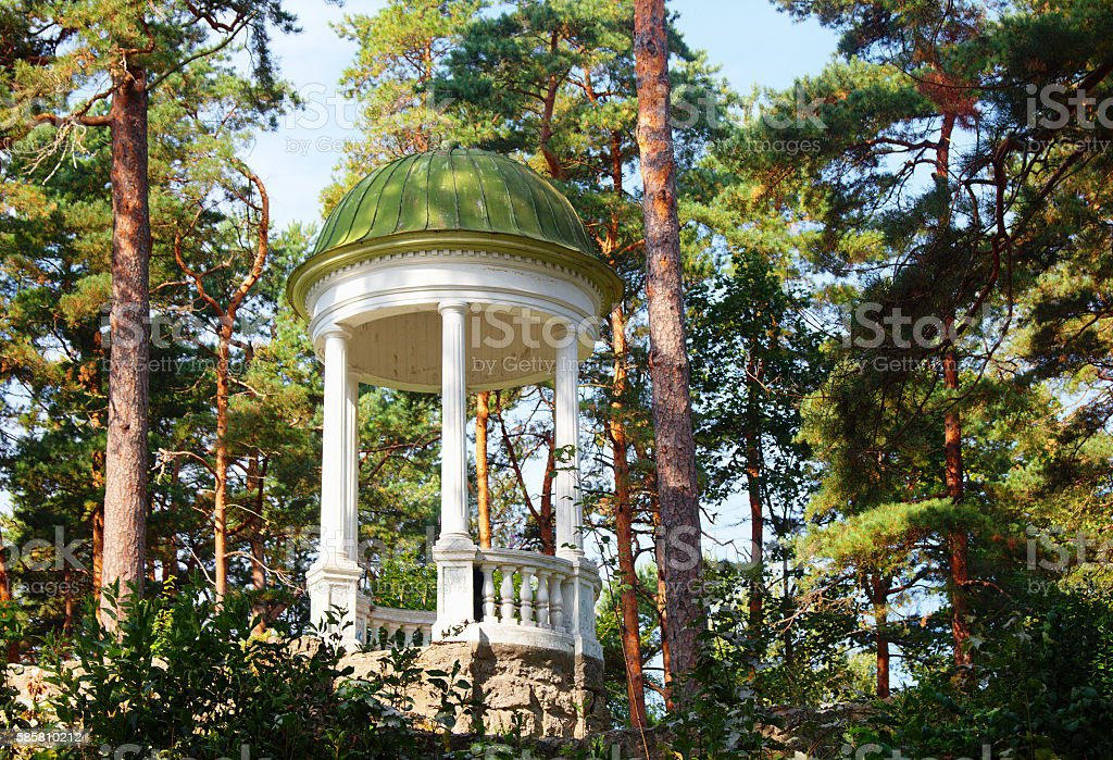 Arbour (rotunda) in Jurmala. Latvia stock photo