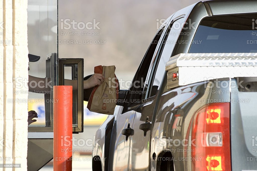 Arby's Restaurant Drive Through stock photo