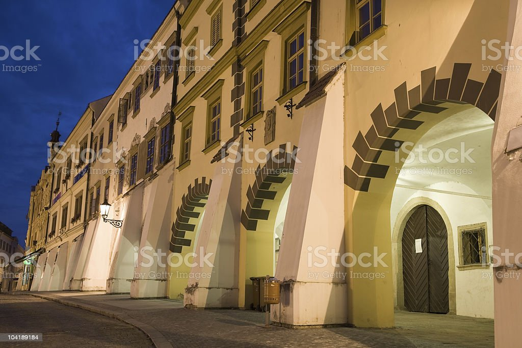 Arc city houses royalty-free stock photo