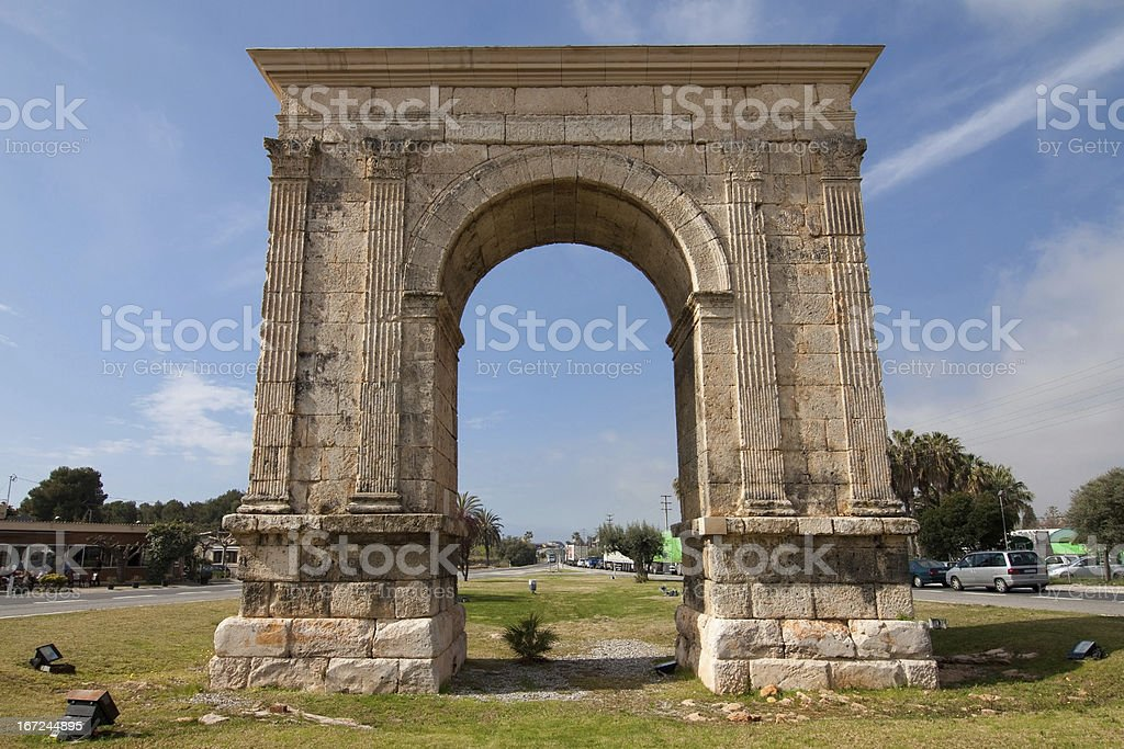 Arc de Bera, Tarragona royalty-free stock photo
