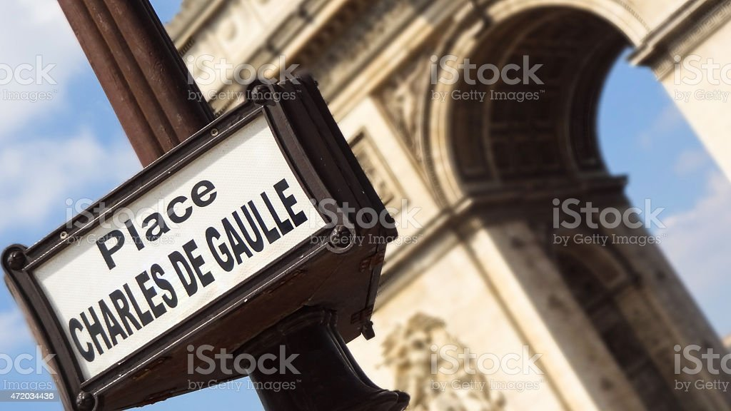Arc de Thriomphe in Paris, France stock photo