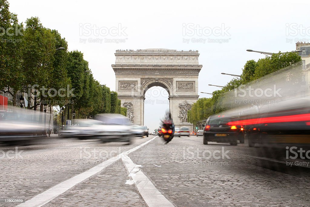 Arc de Tiumph, Paris royalty-free stock photo