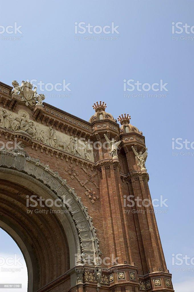 arc de triomf barcelona royalty-free stock photo