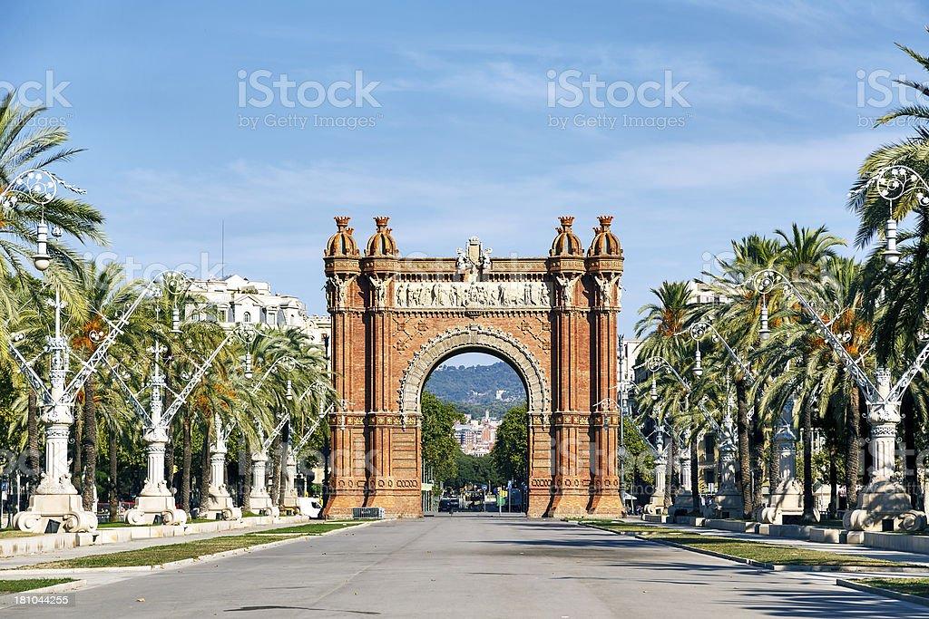 Arc de Triomf in Barcelona royalty-free stock photo