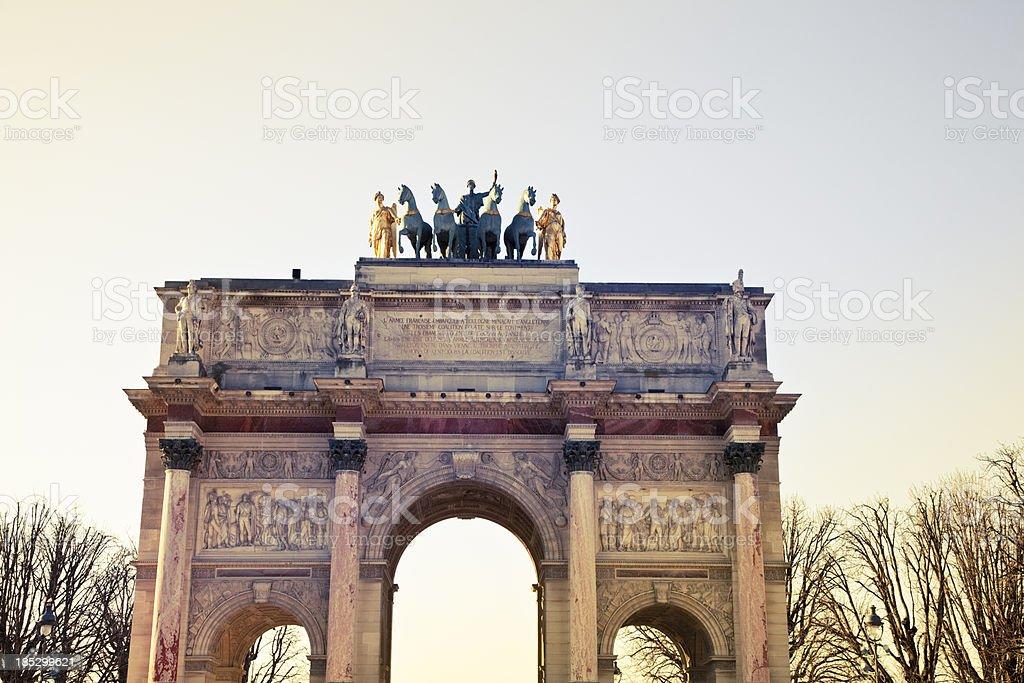 Arc de Triommphe du Caroussel in Paris - France royalty-free stock photo