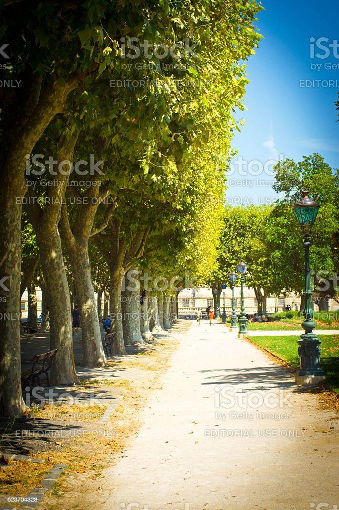 Arc De Triomph Montpellier stock photo