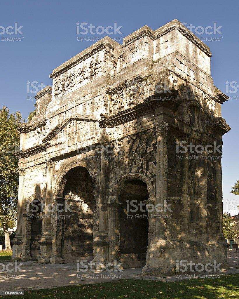 Arc de Triomphe at Orange royalty-free stock photo