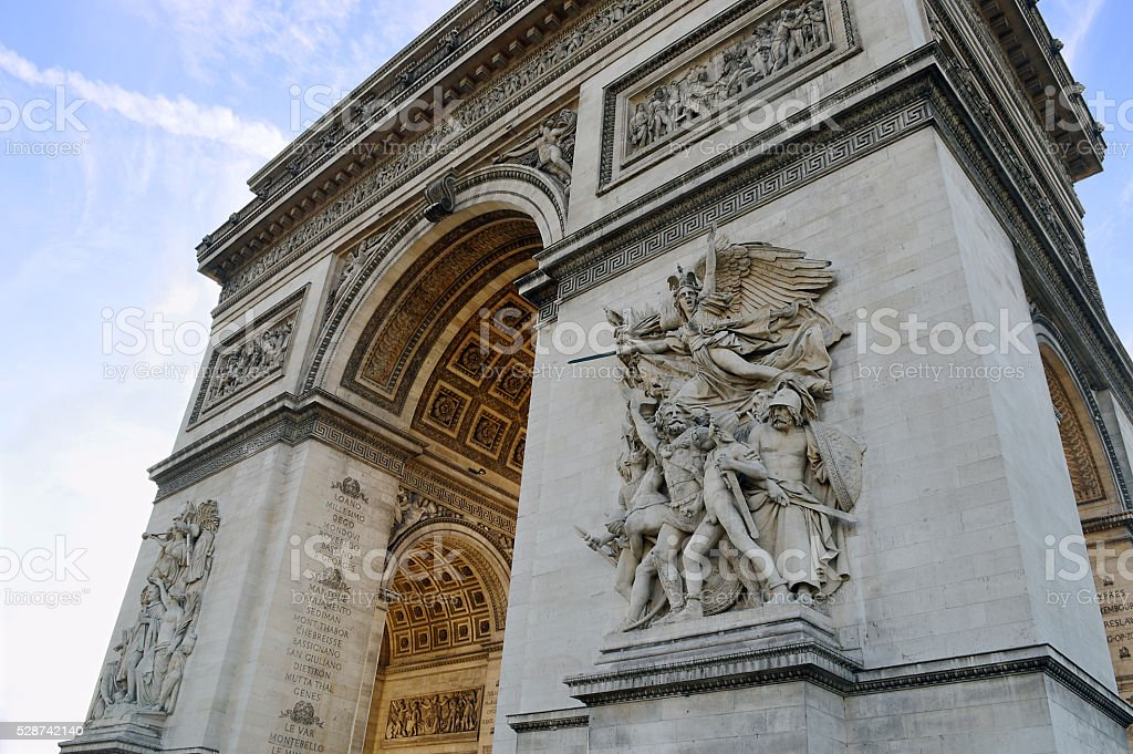 Arc de Triomphe battle 1810 stock photo