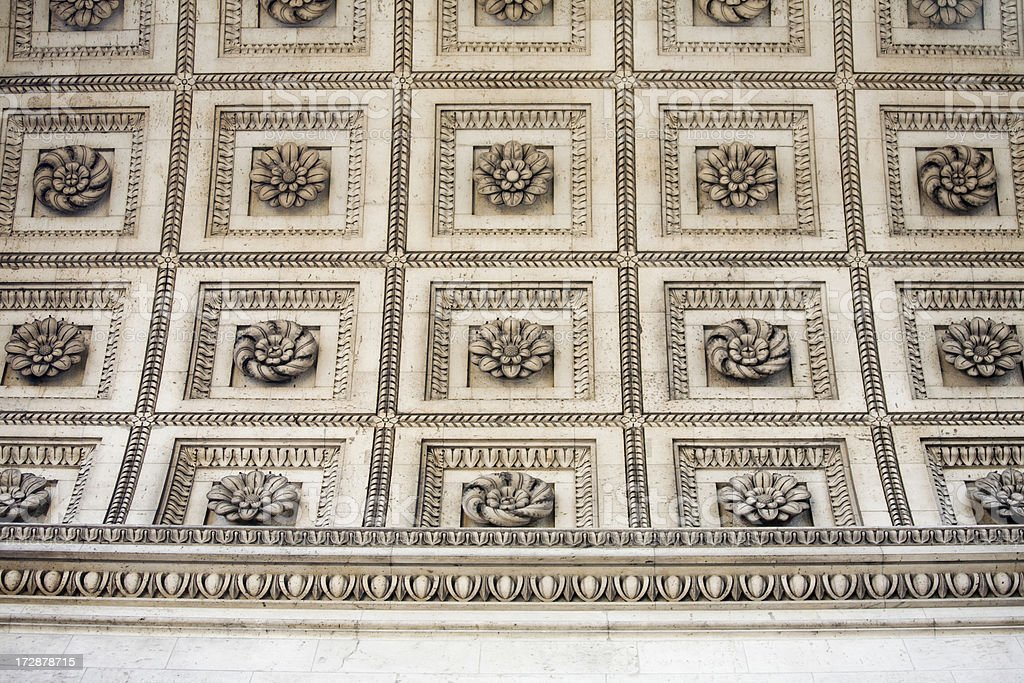 Arc de Triomphe ceiling details, Paris royalty-free stock photo