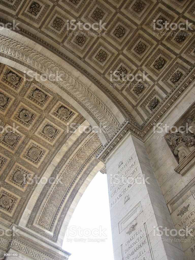 Arc de Triomphe ceiling royalty-free stock photo