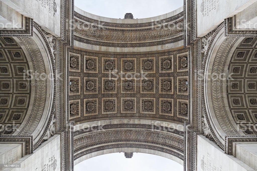 Arc de Triomphe Detail stock photo
