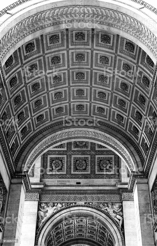Arc de Triomphe - Details royalty-free stock photo