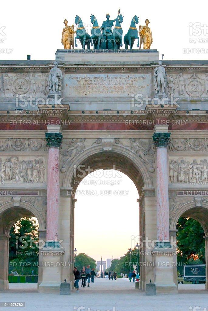 Arc de Triomphe du Carrousel at the Louvre III stock photo
