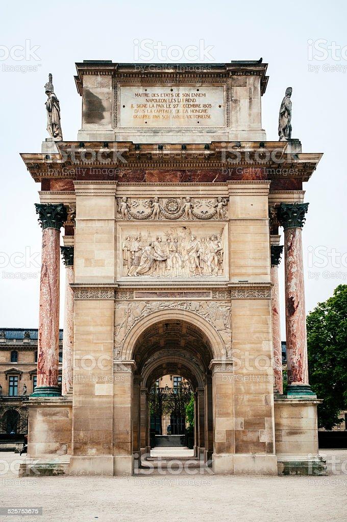 Arc de Triomphe du Carrousel in Paris stock photo
