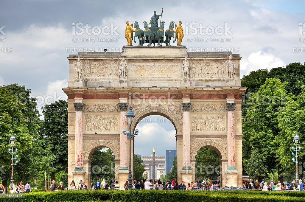 Arc de Triomphe du Carrousel. Paris, France. stock photo