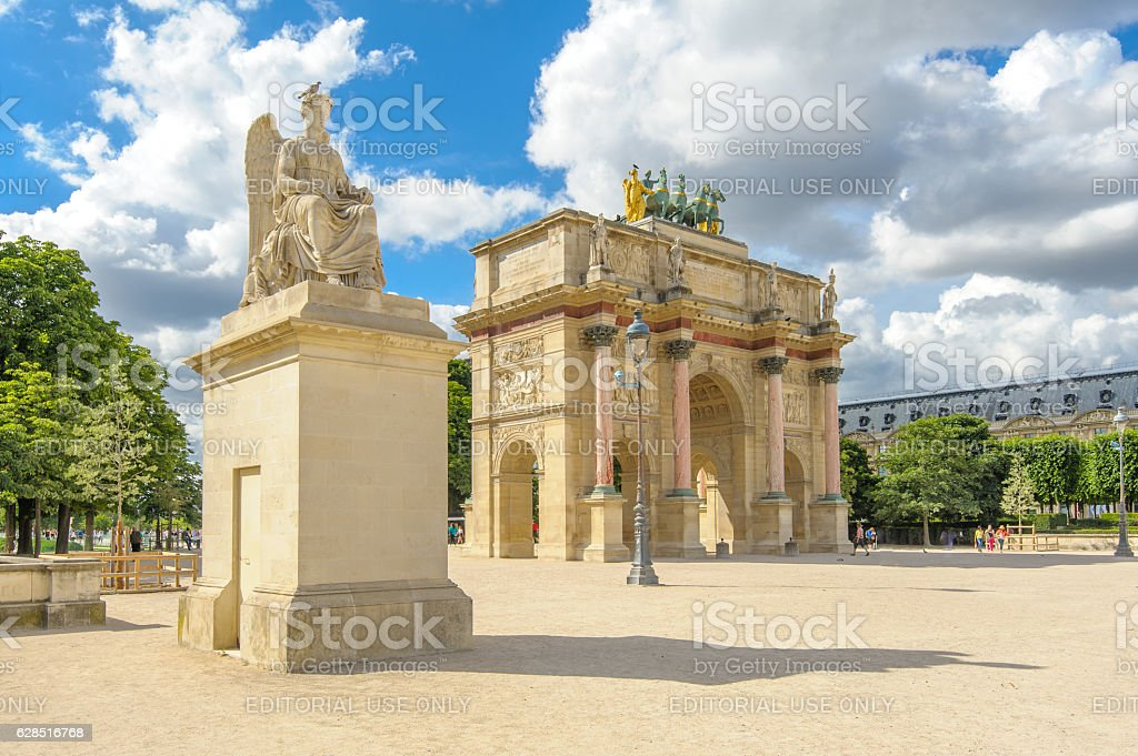 Arc de Triomphe du Carrousel stock photo