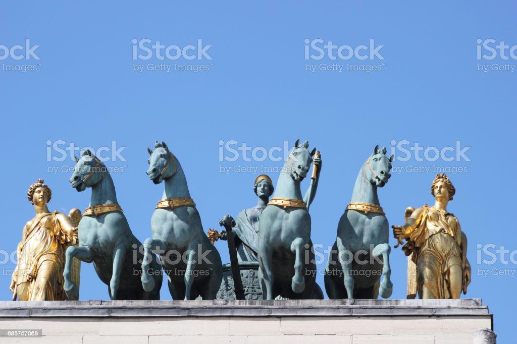 L'Arc de Triomphe du Carrousel stock photo