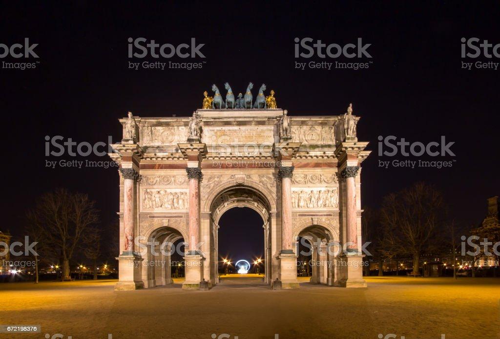 Arc de Triomphe du Carroussel, Paris, France stock photo