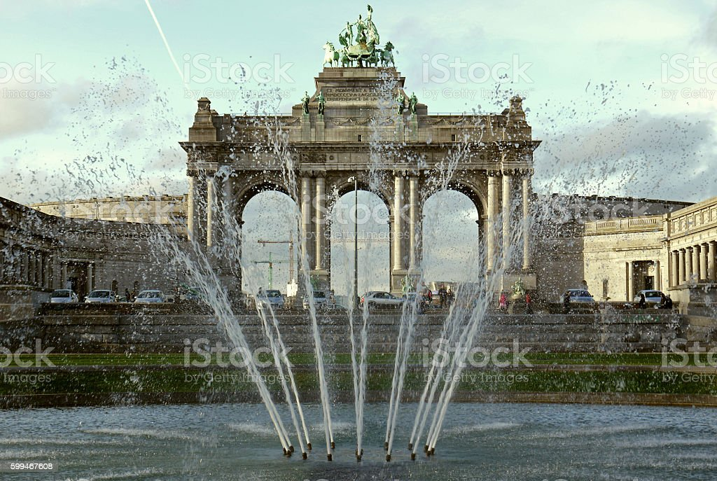 Arc de Triomphe in Brussels, BELGIUM. stock photo