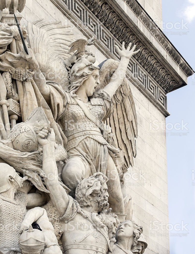 Arc de Triomphe in Paris Detail royalty-free stock photo