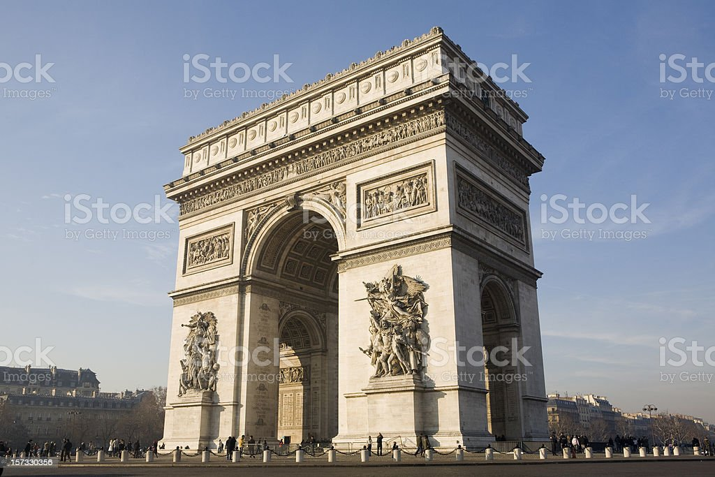 Arc de Triomphe in Paris, France royalty-free stock photo