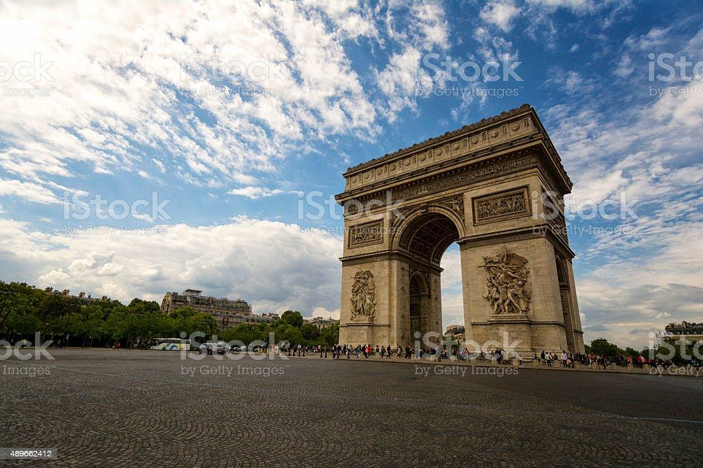 arc de triomphe in Paris stock photo
