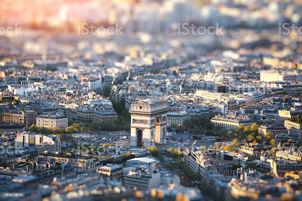 Arc de Triomphe In Paris stock photo