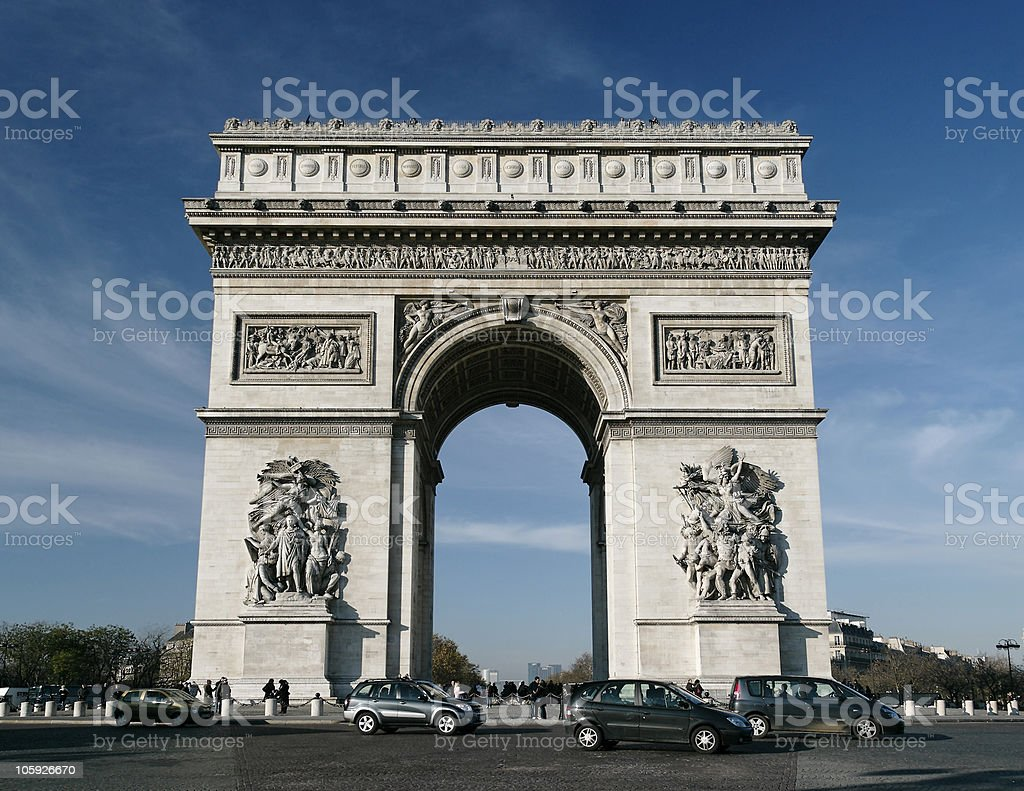 Arc de Triomphe in the daytime royalty-free stock photo