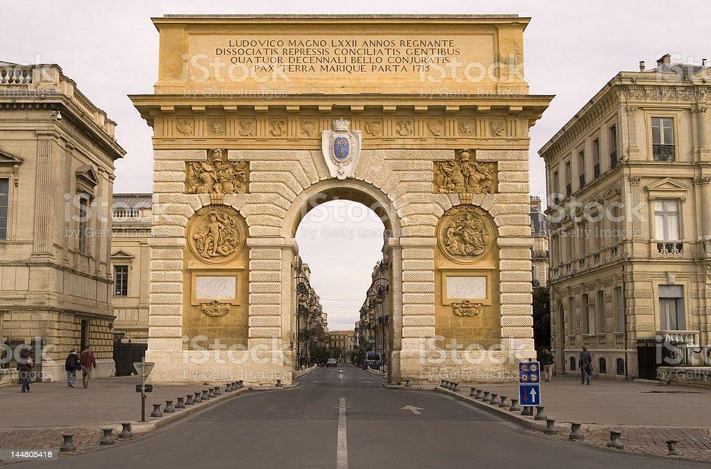 Arc de Triomphe Montpellier stock photo