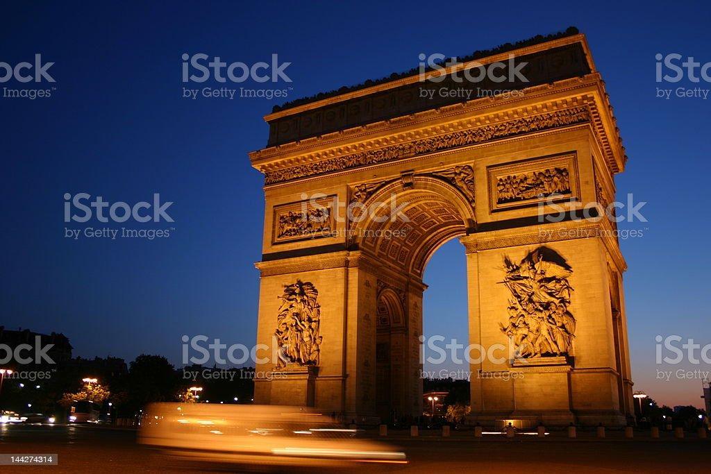 Arc De Triomphe, Paris France royalty-free stock photo