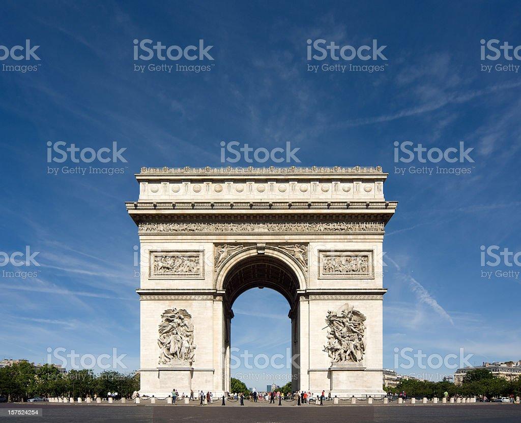 Arc de Triomphe Paris France royalty-free stock photo