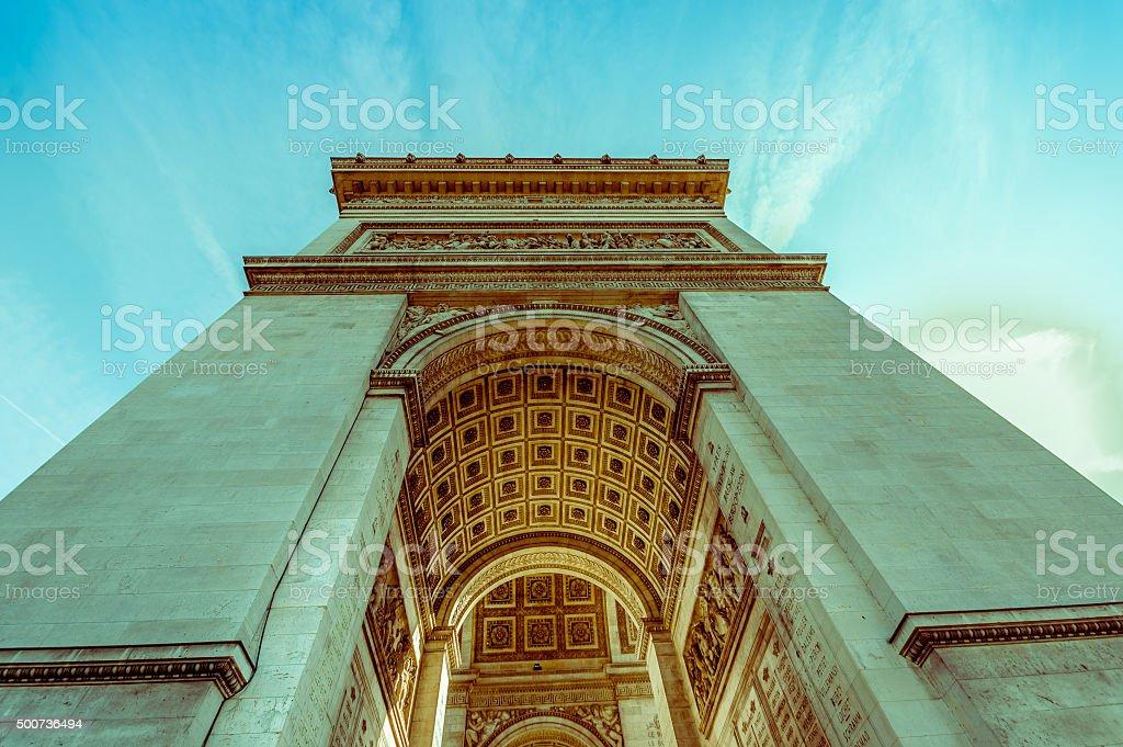 Arc de Triomphe, Paris, France stock photo