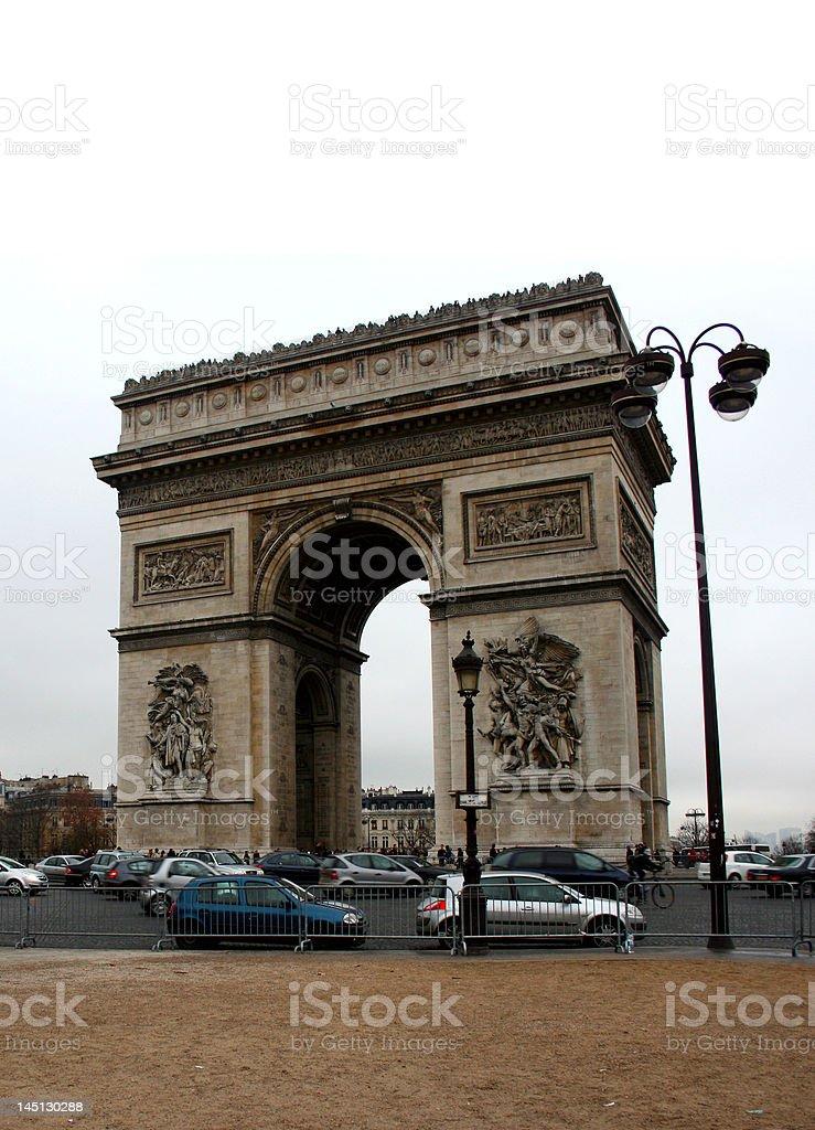 Arc de Triomphe, Paris royalty-free stock photo