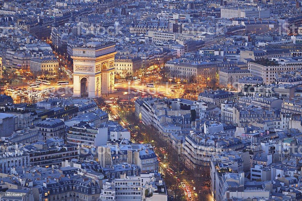 Arc de Triomphe - Paris royalty-free stock photo