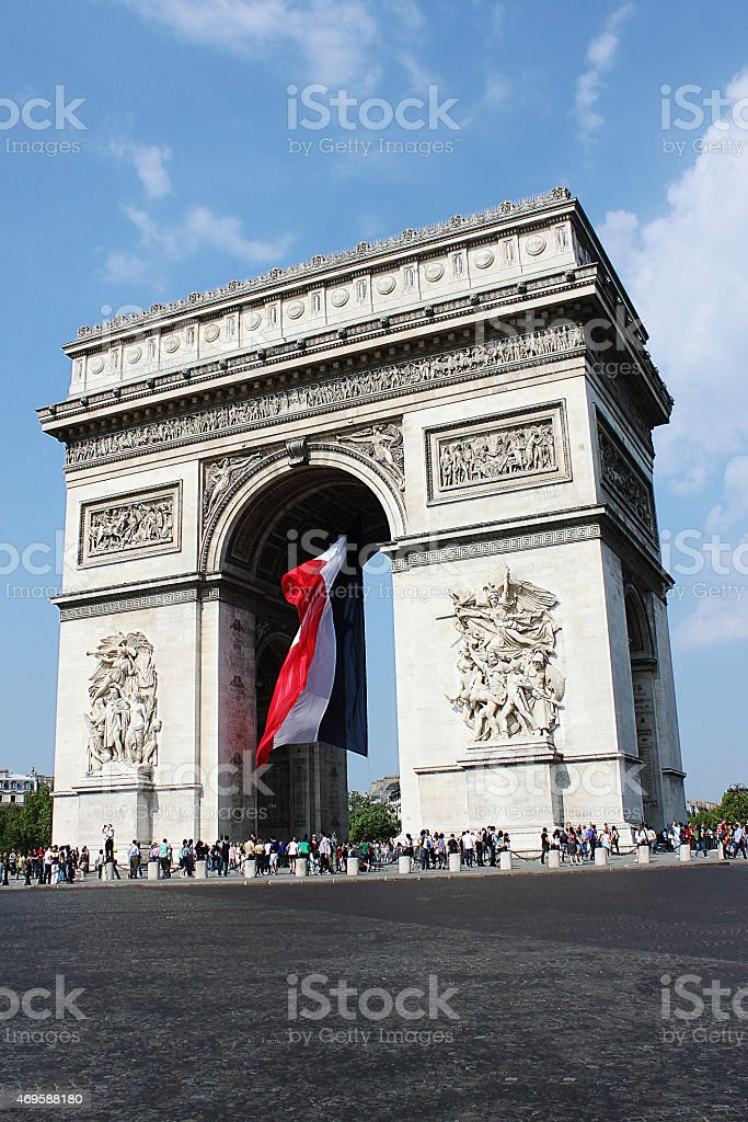 Arco di Trionfo, Parigi stock photo