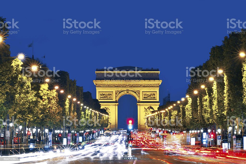 Arc de Triomphe - Paris stock photo