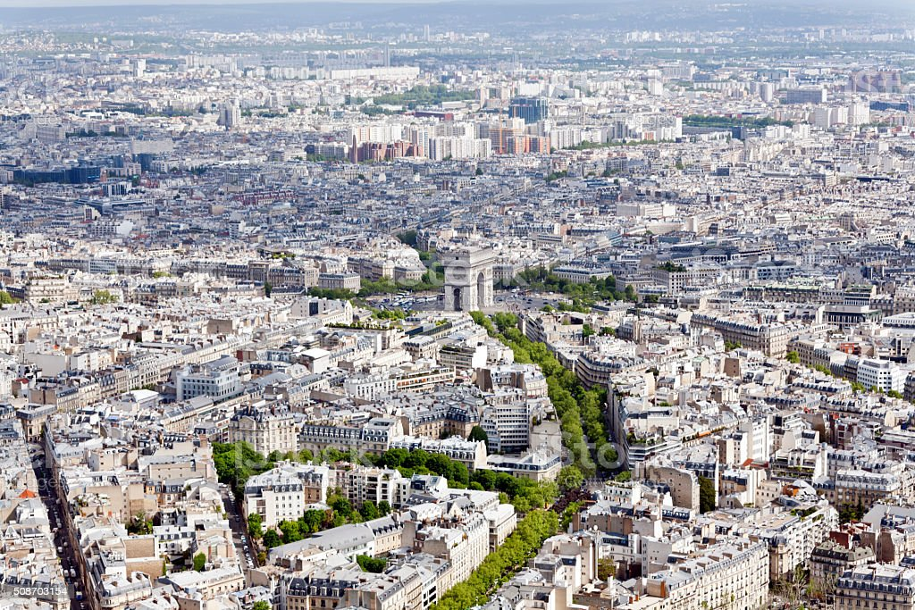 arc de triomphe paris stock photo