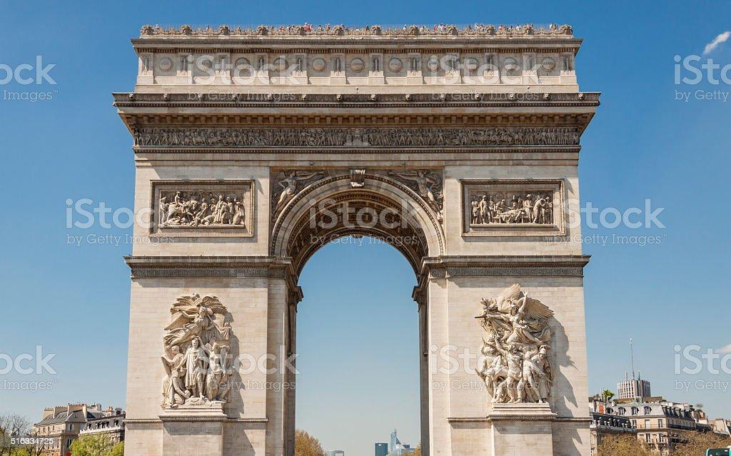 Arc de Triomphe - Paris. stock photo