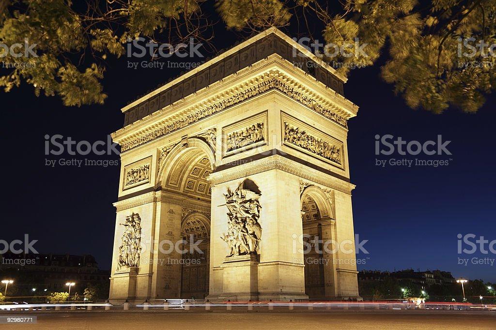 Arc de Triomphe Париже Стоковые фото Стоковая фотография