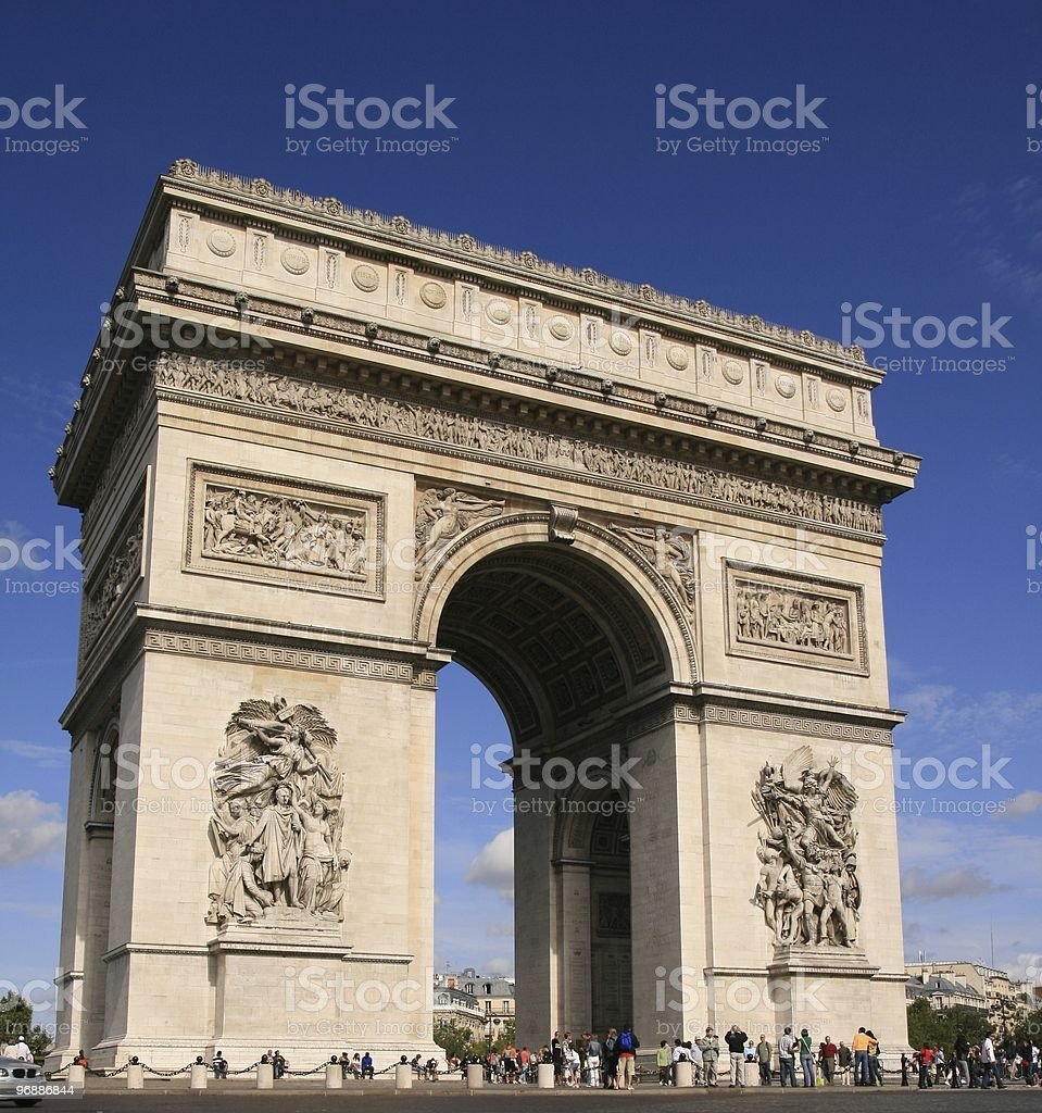 Arc de Triomphe, Paris. royalty-free stock photo