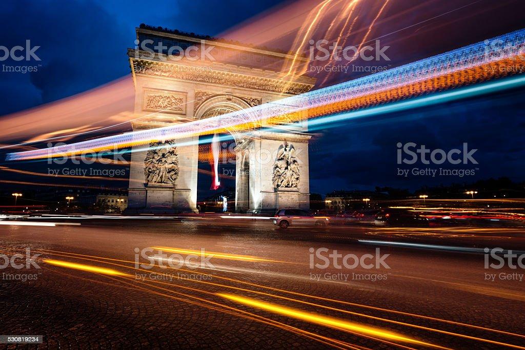 Arc de Triomphe stock photo