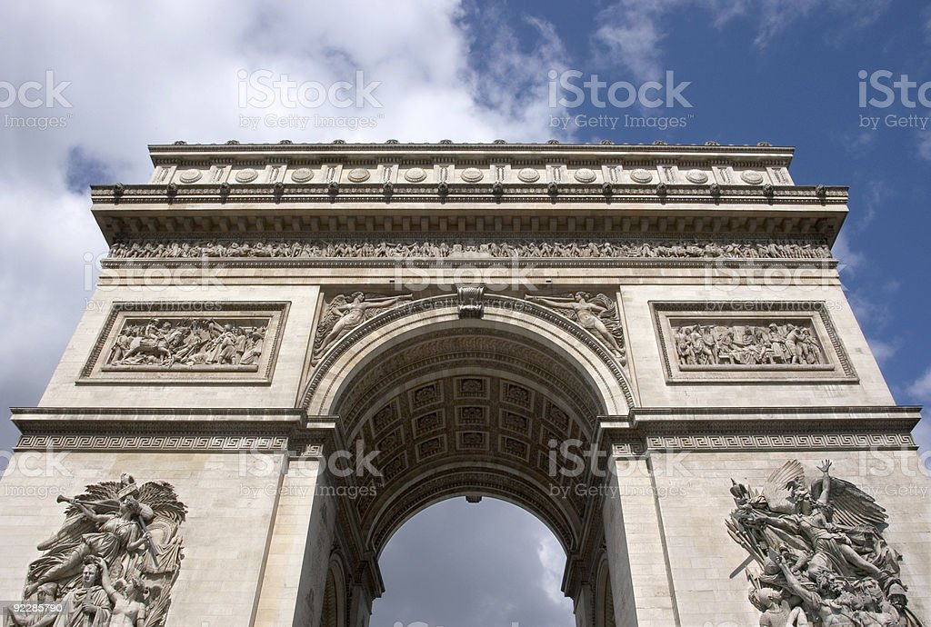 Arc de Triomphe royalty-free stock photo