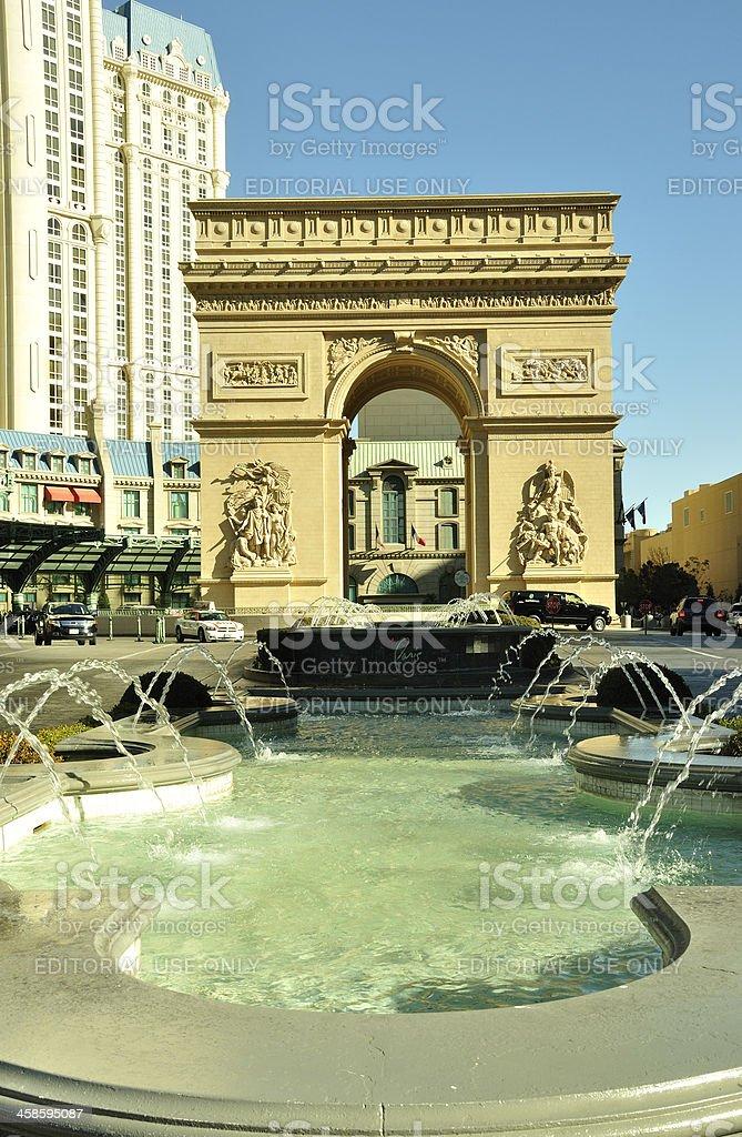 Arc de Triumph Las Vegas stock photo