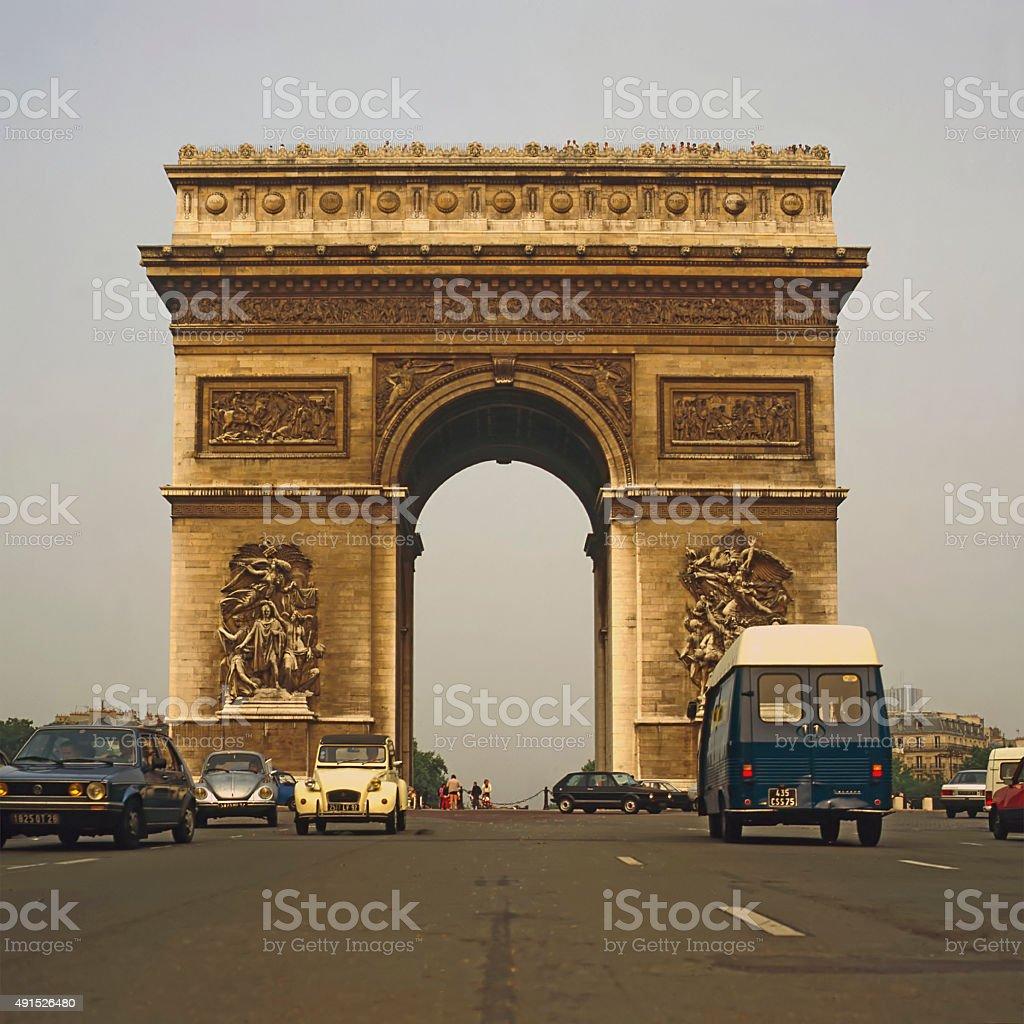 Arc de Triumphe, Paris stock photo