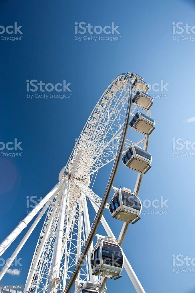 Arc of a ferris wheel royalty-free stock photo