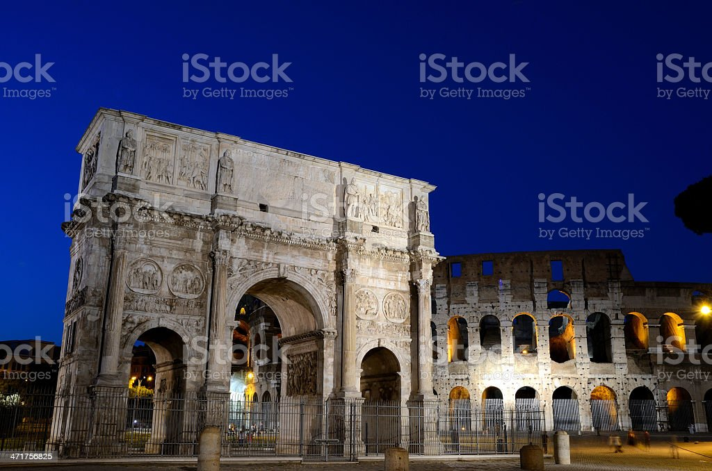 Arc of Constantine, Rome royalty-free stock photo