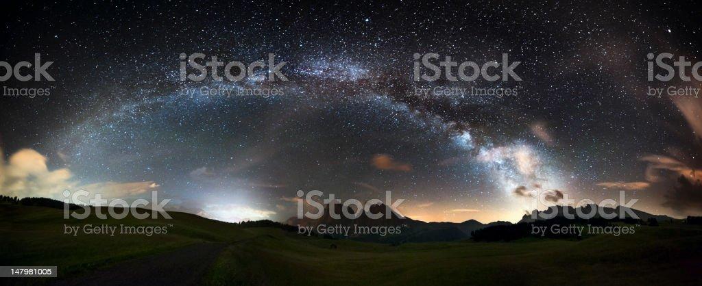 Arc of the Milky Way - Panorama XXL stock photo